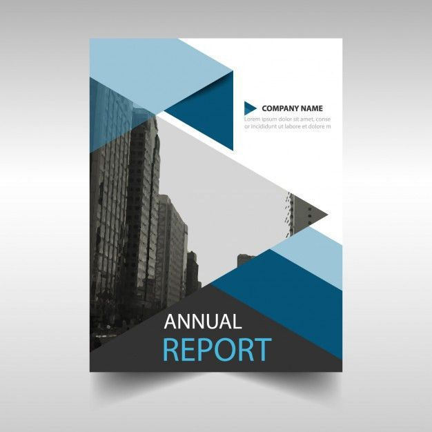 Blue geometric annual report template Vector | Free Download