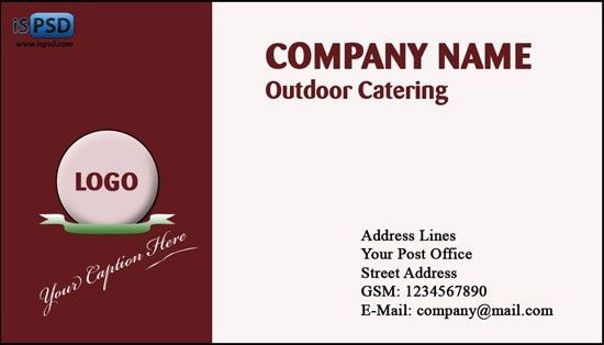 Brown Business Cards PSD