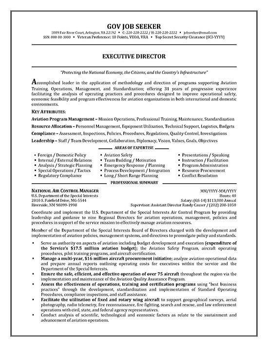 Federal Government Resume Sample Resume Examples Free Example ...