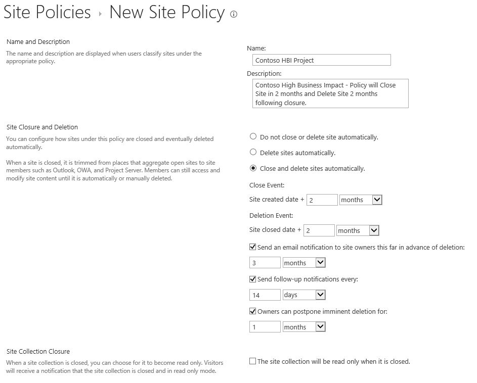 Site Policy in SharePoint – SharePoint IT Pro Blog