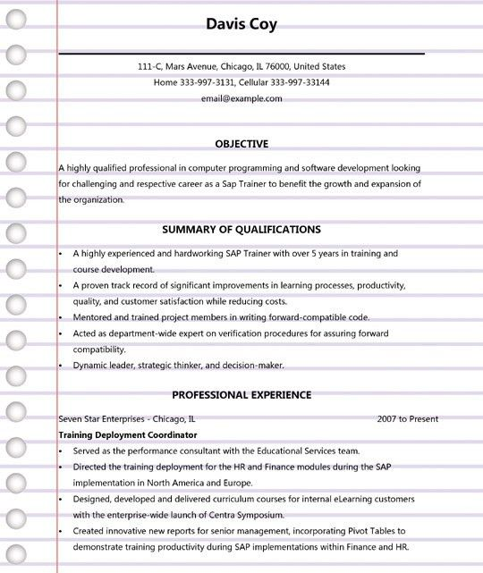 sap mm resume 4 years experience 100 sap resumes for experienced