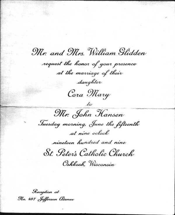 Documents on GLIDDEN Family
