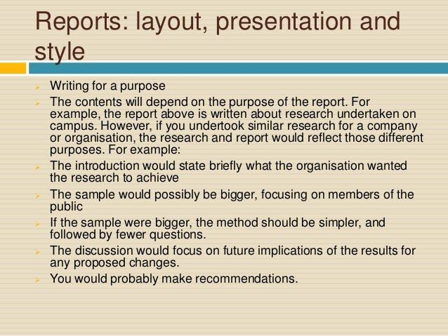 Report Writing for Academic Purposes