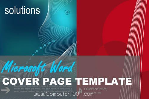 Awesome Download Microsoft Word Cover Page Templates Pictures ...