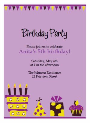 Printable Birthday Party Invitations