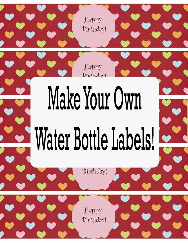 Water Bottle Labels Template | cyberuse