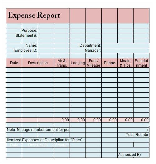 Sample Report In Excel. Expense Report Template Auto-Computes ...