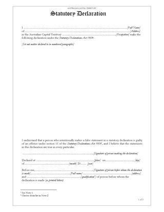 Australia Affidavits and Declarations | Legal Forms and Business ...