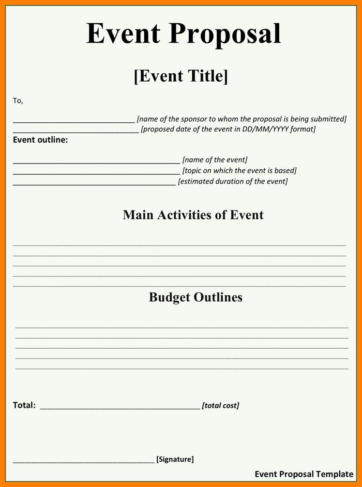 7+ event proposal format pdf | it cover letter