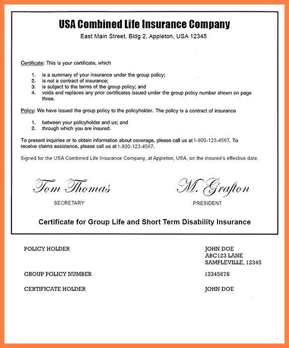 6+ insurance agreement template | Life Insurance Letter