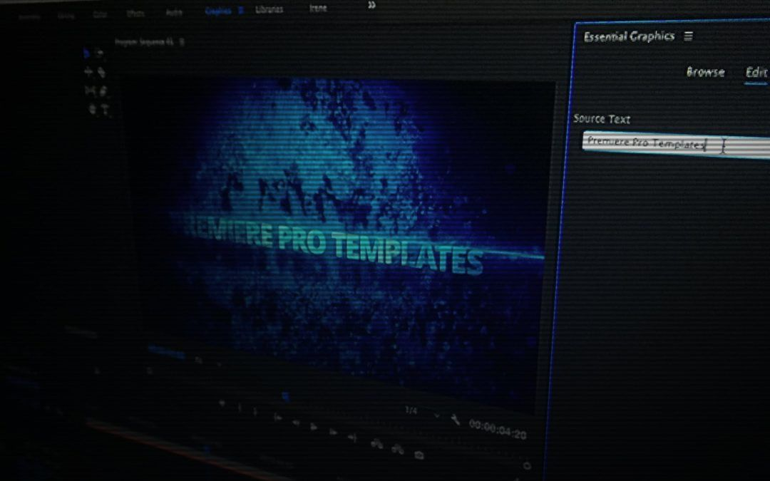 Motion Graphics Template in Adobe Premiere Pro - Perfect for Video ...