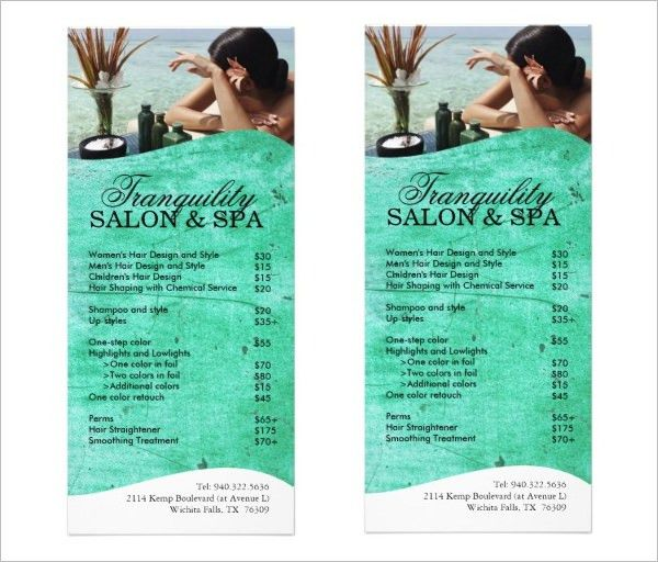 Spa Menu Template U2013 25+ Free PSD, EPS Documents Download! | Free .