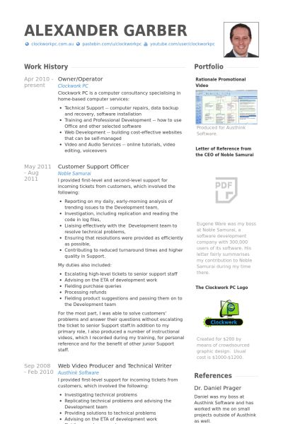 Owner Operator Resume samples - VisualCV resume samples database