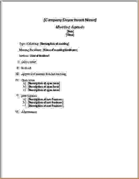 10 Meeting Agenda ExamplesAgenda Template Sample | Agenda Template ...