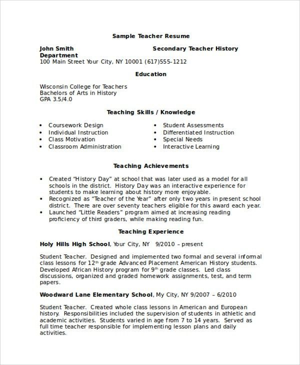 Sample Resume - 8+ Examples in Word