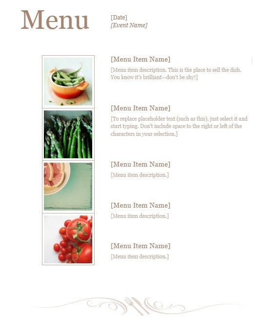 13 Free Sample Lunch Menu Templates – Printable Samples
