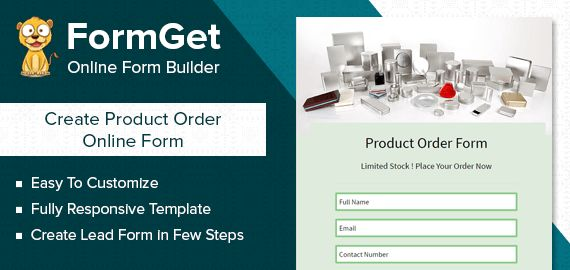 FormGet] - Create Product Order Form For Sellers & Shopkeepers ...