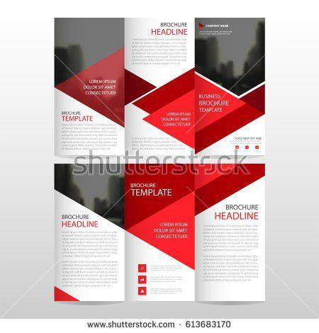 Corporate Brochure Template Design Annual Report Stock Vector ...
