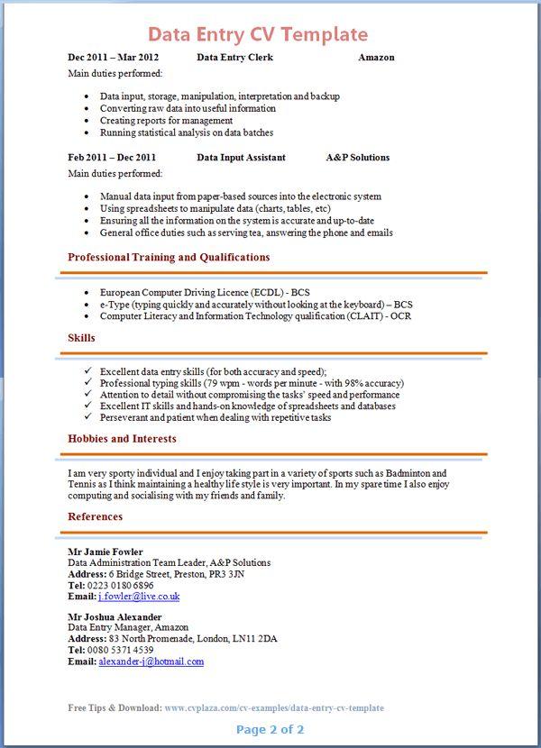 Cv Template - Resume Cv