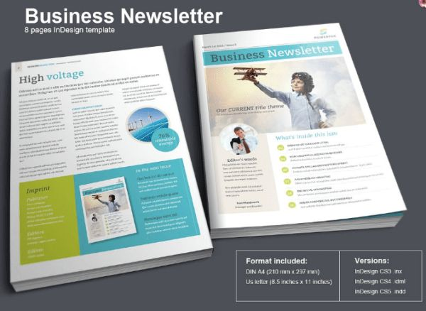 20 Free Business Newsletter Templates - XDesigns
