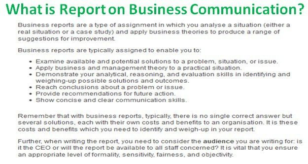 What is Report on Business Communication?