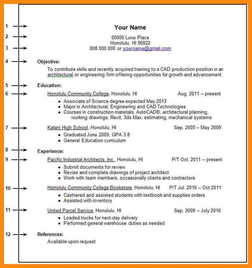 No Work Experience Resume Template. Resumes For Students With No ...