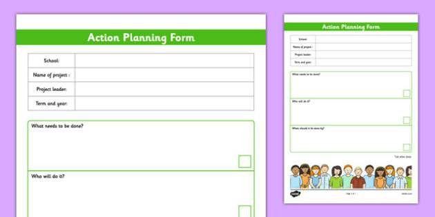 School Council Project Action Plan Template - school council