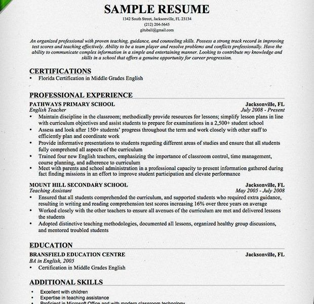 Beautiful Teacher Sample Resume Fresh - Resume CV Cover Letter