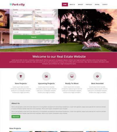 HTML Real Estate Responsive Template - WebThemez