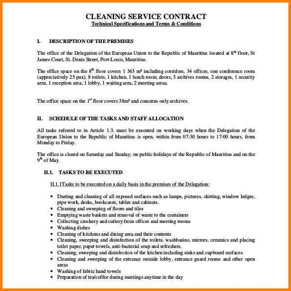 Cleaning Proposal Template. Template Images: Cleaning Business ...
