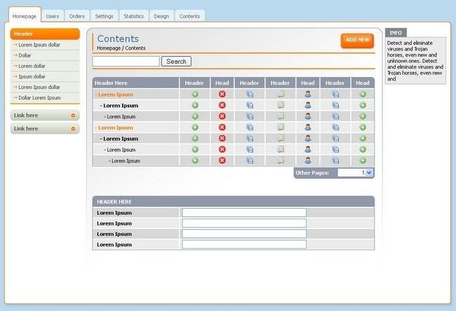 18 Free Backend Admin Panel and Dashboard Templates | Artatm