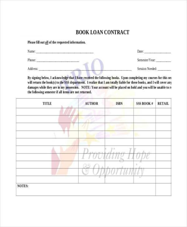 Loan Contract Template - 7+ Free PDF Documents Downloads | Free ...