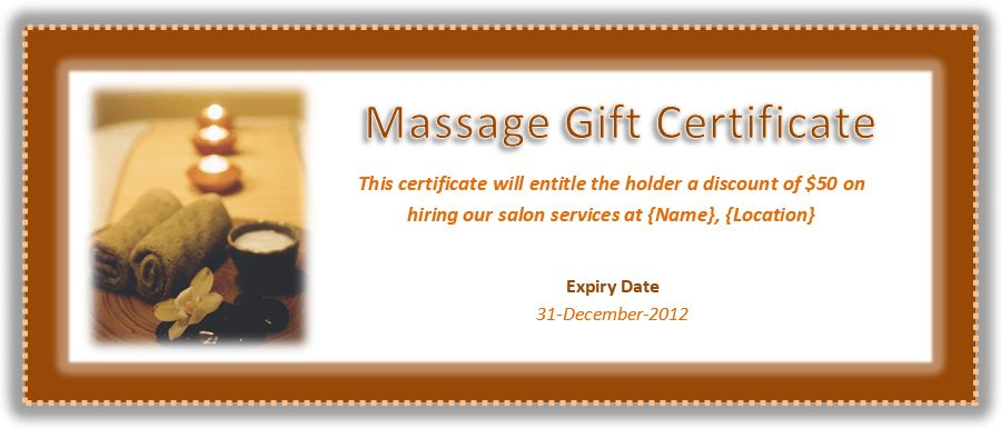 Massage Therapy Gift Certificate Template – Microsoft Office Templates