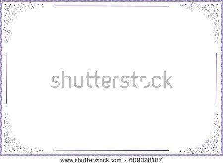 Frame Blank Template Certificate Diploma Stock Illustration ...
