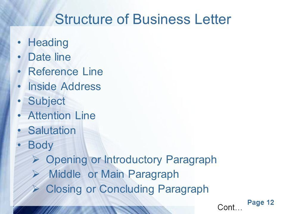 Page 1 Business Correspondance. Page 2 Correspondence Business ...