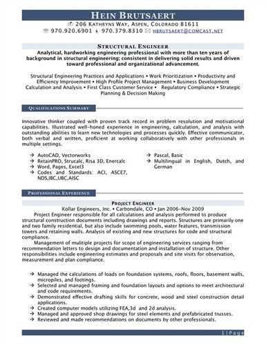 28 structural engineer sample resume professional assistant