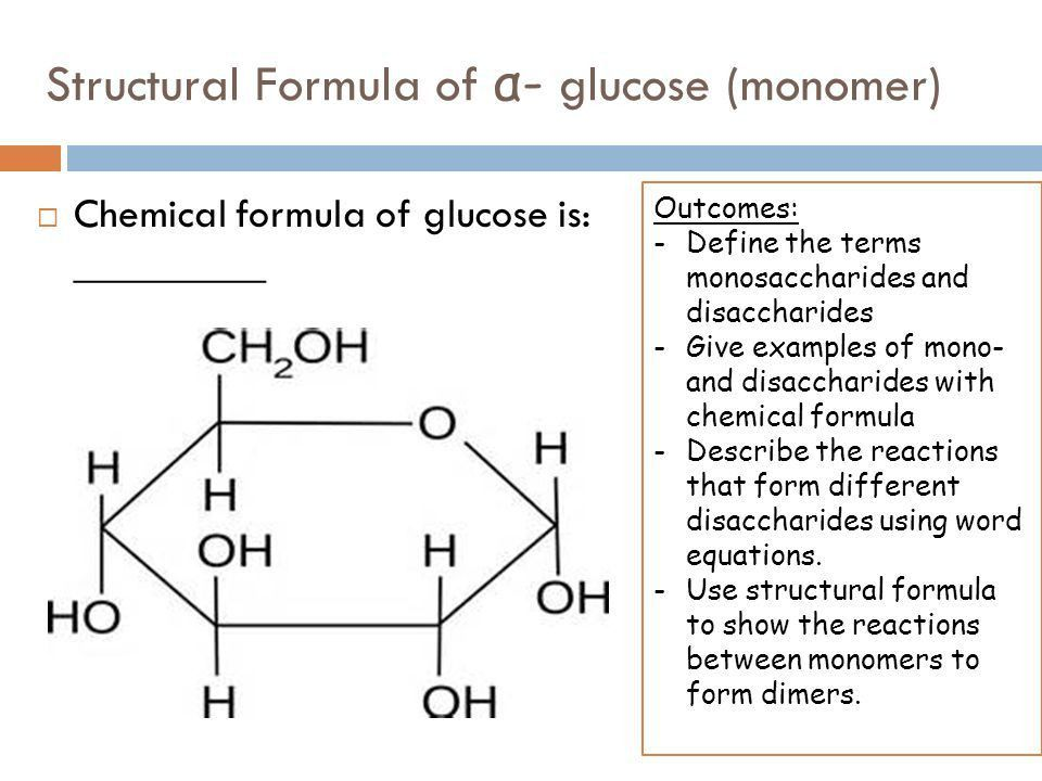 CARBOHYDRATES (MONOMERS) Monosaccharides are the monomers from ...