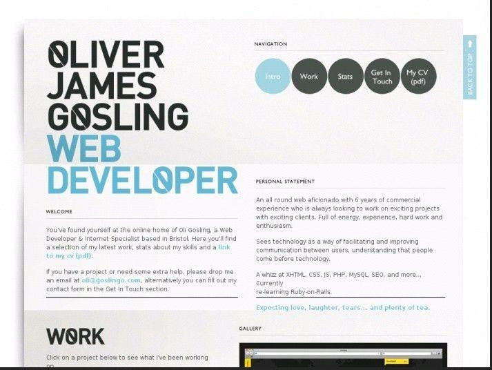 Screenshot resume programmer | inspirations | Pinterest