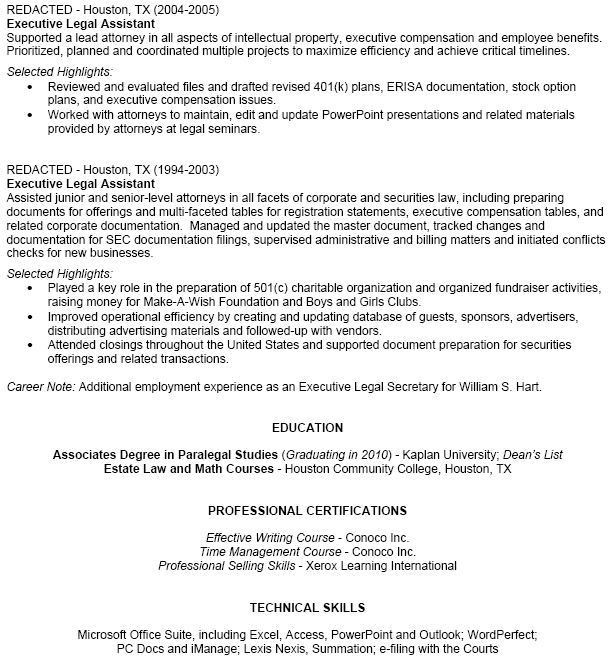 legal assistant resume sample with keyword sample legal assistant ...