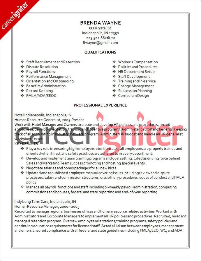 Human Resource Resume | Resume Badak
