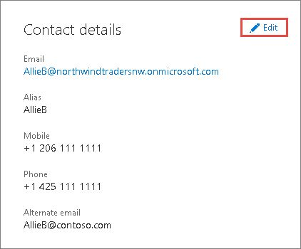 Update your admin phone number and email address in Office 365 ...