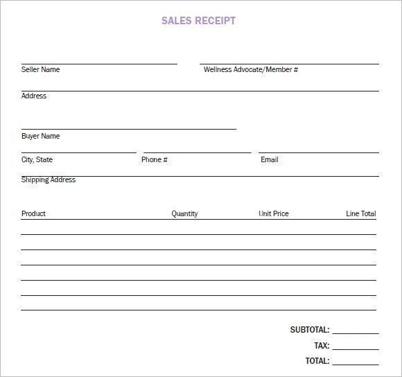 8+ Sales Receipt Templates - Word Excel PDF Formats