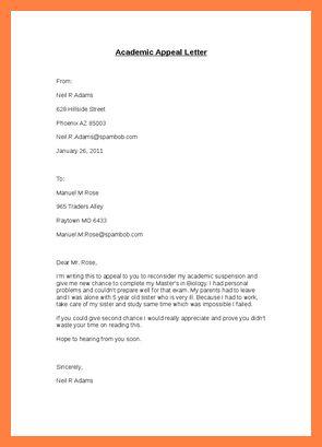 10+ college suspension appeal letter sample | Appeal Letter 2017