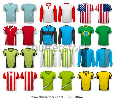 Collection Various Shirts Design Template Tshirt Stock Vector ...