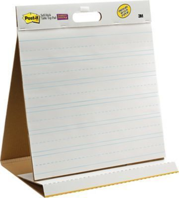 "Post-it® Super Sticky 20""x23"", Table-top Easel Pad, White with ..."