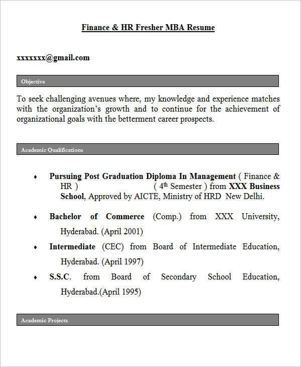 28+ Free Fresher Resume Templates | Free & Premium Templates