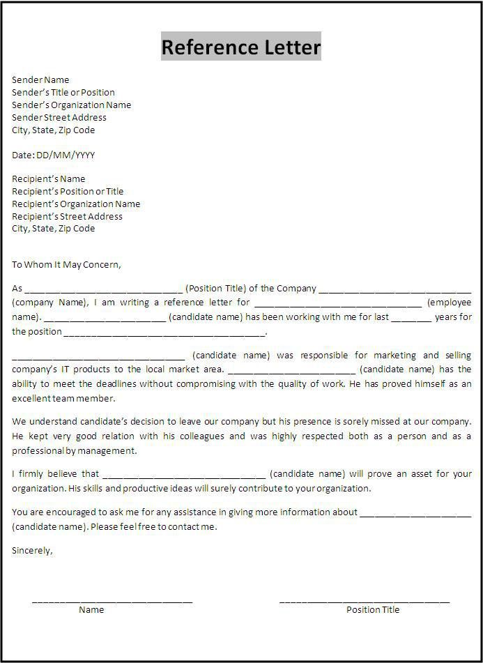 letter of recommendation for a job from previous employer - Google ...