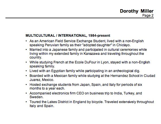 Resume Sample for an ESL Teacher - Susan Ireland Resumes