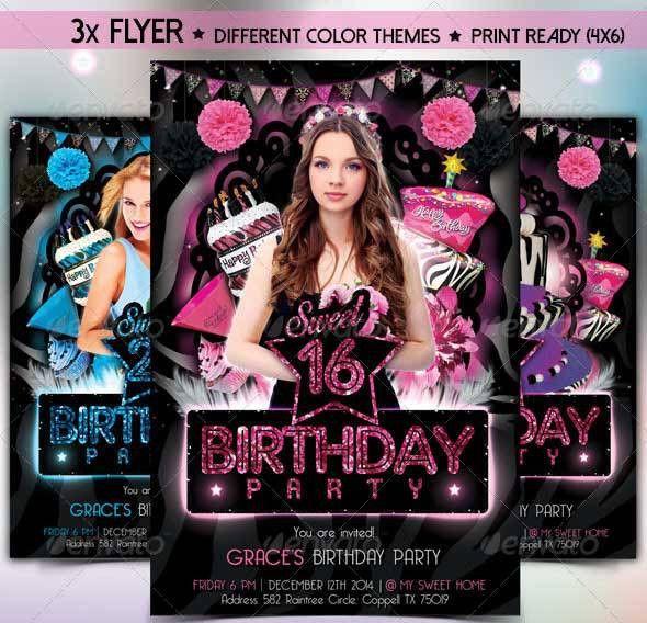 30+ Top Birthday Invitation Card PSD Templates Download