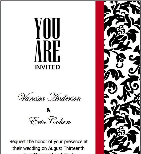 93 best Wedding Invitations, Menus etc images on Pinterest ...